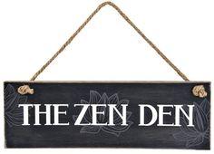 The Zen Den Yoga Meditation Room Wall Hanging Sign With Lotus Flower By Ganz New #GANZ #Zen #Meditation