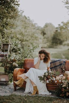 46b94b1de4d8f8 Banquets   Bonfires Autumn Wedding Ideas. Bride Boots