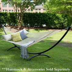 Steel Arc Hammock Stand - Black