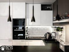 Scandinavian style kitchen by as-meb scandinavian mdf Kitchen Interior, New Kitchen, Home Interior Design, Kitchen Dining, Kitchen Decor, Kitchen Cabinets, Küchen Design, Flat Design, High Gloss White Kitchen