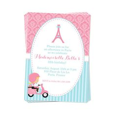 50% Off Sale  PRINTABLE Paris Party Package por DaysignsbyDay