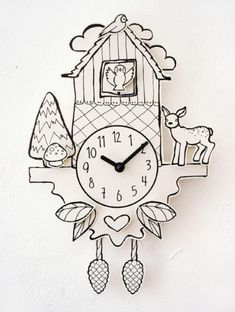 Paper clock by dawanda