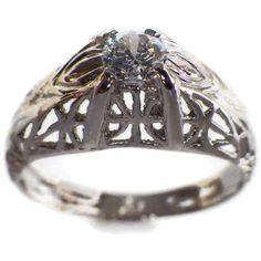 Vintage Diamond Engagement Ring Edwardian by My3LadiesJewelry, $269.99