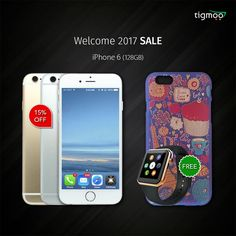 Apple #iPhone6 128GB (Gold) with FREE #fancycase & #smartwatch & get EXTRA 15% OFF!  Available in GOLD & SILVER colours: https://www.tigmoo.com/apple-iphone-6-128gb-gold-with-free-fancy-case-smart-watch.html  https://www.tigmoo.com/apple-iphone-6-128gb-silver-with-free-fancy-case-smart-watch.html