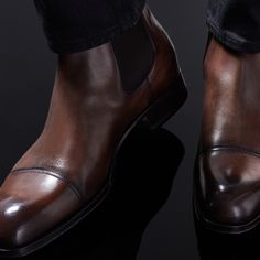 Edgar Leather Chelsea Boot finely crafted in Italy. #TOMFORD