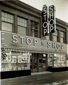 Stop and Shop storefront, New Bedford, Massachusetts, date unknown    From The Rabb Family Papers, American Jewish Historical Society, New England Archives.