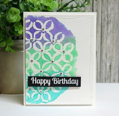 Magenta: Simple Makes Me Smile / Simple me fait sourire Make Me Smile, Magenta, Mixed Media, Card Making, Scrap, Happy Birthday, My Love, Simple, How To Make
