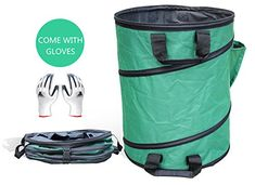 Gardzen 30 Gallons Pop Up Gardening Bag Reusable Pop Up Yard Lawn Garden Leaf Waste Bag >>> Details can be found by clicking on the image. (This is an affiliate link)