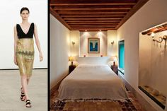 "Derek Lam was so taken w/ surroundings during most recent stay in North Africa that he channeled stunning architectural details into latest resort collection for look best described as ""archaeologist chic;"" gem in middle of Tunis, Dar El Medina is perfectly situated for easy access to city's white-sand beaches, bustling markets, & impressive ancient architecture"