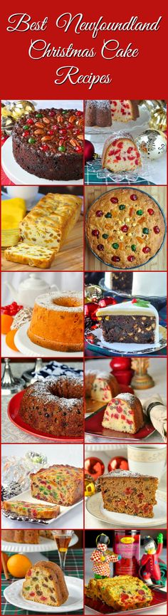 A collection of 12 different Christmas Fruitcake and Pound Cake recipes from traditional English style to new twists on decades old Newfoundland favourites during the holidays. You will not find better Holiday baking anywhere in Canada. Xmas Food, Christmas Cooking, Christmas Desserts, Christmas Treats, Christmas Fruitcake, Christmas Cakes, Xmas Cakes, Christmas Foods, Rock Recipes