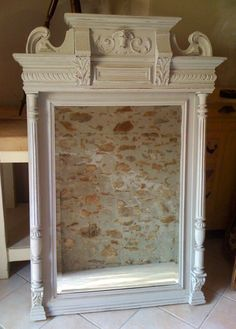 french antique painted Henri II style mirror