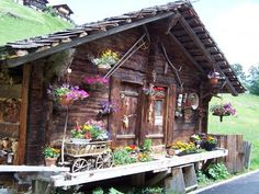 I saw this very house in Gimmelwald Switzerland. my favorite place ever high in the Swiss Alps!