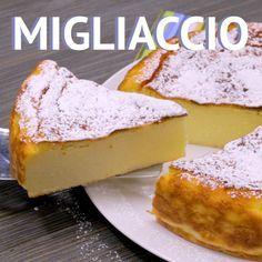 Migliaccio - a traditional semolina and ricotta cake made in Naples # Semolina # Ricotta# cheesecake # Rawa # Cake # No flour easycakerecipes Italian Desserts, Italian Recipes, Romanian Desserts, Italian Cake, Easy Cake Recipes, Sweet Recipes, Semolina Cake, Semolina Recipe, Food Tags