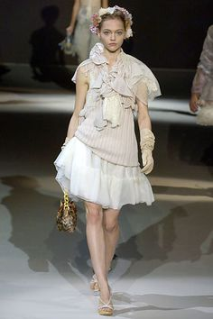 Louis Vuitton Spring 2007 Ready-to-Wear Fashion Show - Sasha Pivovarova