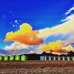 http://electroosmosisltd.co.uk #littlehampton #littlehamptonbeach #beach #stonebeach #sky #bluesky #clouds #cloudporn #sunlight #sunset #littlehouses #dusk #england #exploringbritain #orangeclouds #travel #nature #fenomena #atmosphere #Capturing_Britain #colors