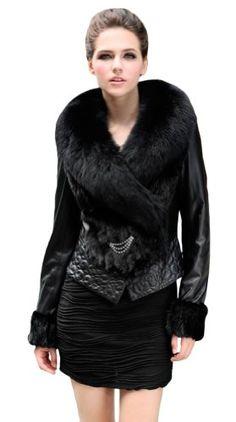 Queenshiny Women's 100% Real Mink Fur and Sheep Leather Coat Jacket with Big Fox Collar-Black-L(12-14) Queenshiny,http://www.amazon.com/dp/B009VSM0VE/ref=cm_sw_r_pi_dp_3kXHsb0NFE9XRXC2