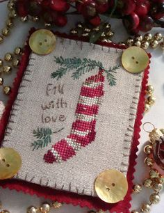 Contemplating my needle and thread: More ornaments