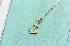 Tiny Gold Anchor Charm.