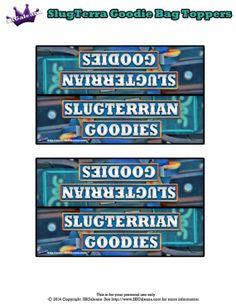 Slugterrian Goodies, Goodie bag topper ~ Free Slugterra Party Printables, and Crafts | SKGaleana #slugterra