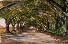Shades lanes and dappled light. Watercolour 🎨