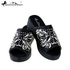 f6d74ef9d35ef Montana West Wedge Sandals Embroidered Wedge Shoes