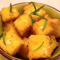Chips de Polenta con Romero y flor de sal