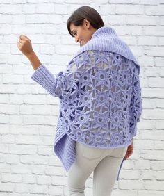 Granny Lace Crochet Cardigan