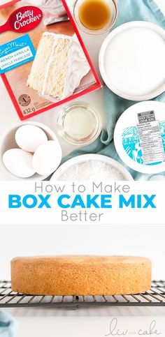 Take your box cake mix to the next level with this easy recipe! A few simple additions make it extra moist and delicious. Moist Vanilla Cake, Vanilla Cake Mixes, Box Cake Recipes, Cupcake Recipes, Dessert Recipes, Breakfast Recipes, Cake Mix Cupcakes, Cupcake Cakes, Cake Recipes
