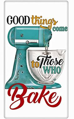 Kitchen Mixer Cotton Flour Sack Dish Tea Towel - Mary Lake Thompson x Buy Kitchen, Kitchen Aid Mixer, Kitchen Signs, Dish Towels, Tea Towels, Baking Quotes, Food Quotes, Timeline Cover, Flour Sack Towels
