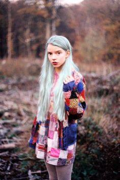 Mint green hair! #grunge #hair #softgrunge
