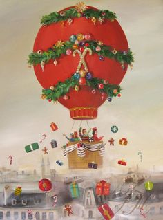 ~ Janet Hill ~ Christmas: The Peppermint Family Christmas Balloon Ride