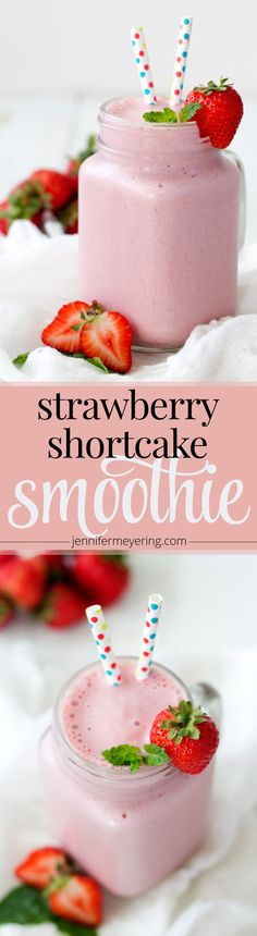 Strawberry Shortcake Smoothie -- JenniferMeyering.com