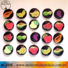 Jogo da Memória - Atelier Wesley Felício #Artesanato #Crafts #Handmade #FeitoàMão #Euquefiz #JogodaMemóra #Crianças #Diversão #Play #Game #CanudinhosdeJornal #Reciclagem #Frutas