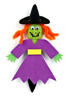 Nicole™ Crafts Witch Paintbrush #kids #craft #halloween