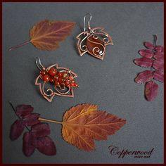 Jewelry Making Copper wire wrapped earrings Red agate earrings Large - Copper Jewelry, Wire Jewelry, Pendant Jewelry, Jewelry Crafts, Beaded Jewelry, Handmade Jewelry, Copper Wire Crafts, Jewelry Stand, Jewlery