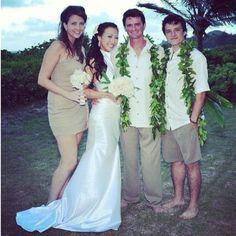Josh as best man to his stunt double wedding...