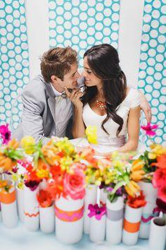 Photography : Jasmine Star Photography | Design : Lindye Galloway Design | Coordinating : LVL Weddings & Events | Floral Design : Krista Jon Design Read More on SMP: http://www.stylemepretty.com/2013/05/10/kate-spade-inspired-wedding-from-jasmine-star-photography/