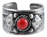 White Metal Coral Ring