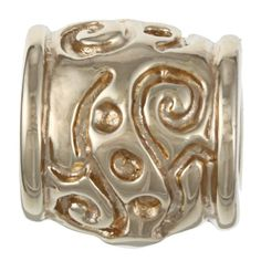Sterling Essentials over Silver Scroll Bali Bead, Women's