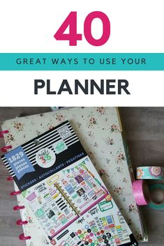 ways to use your planner ways to use your planner 40 great ways to use your planner from - happy planner, erin condren, filofax - here are brilliant tips to use any planner.<br> Squeeze the full potential out of your planner with over 40 things to plan. Free Planner, Planner Pages, Printable Planner, Happy Planner, 2015 Planner, Printables, Blog Planner, Planner Inserts, Planner Stickers