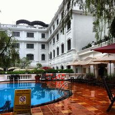 Wonderful colonial style, Hotel Saigon Morin in Hue, Vietnam. Just checked in.