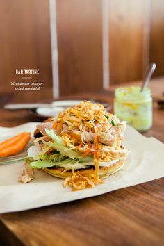 Vietnamese Chicken Salad Sandwich @Jennifer Chong