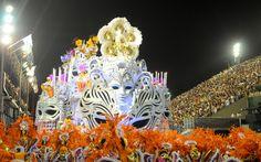 Carro alegórico 'Baile de Máscaras', em enredo do Salgueiro que fala sobre a fama