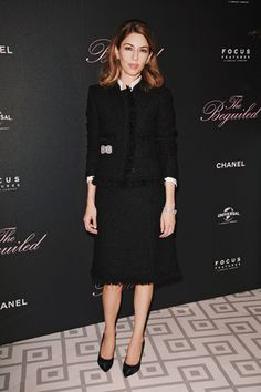 "The director Sofia Coppola came to present her last movie, ""The Beguiled"", at the 70th Cannes Film Festival. For the film premiere, this wednesday at the ""Palais des Festivals"", she wore a tweed suit"