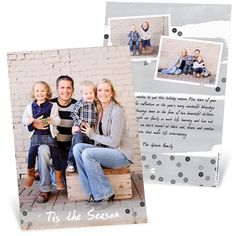 We just love the sequin on these Christmas Cards. The silver coloring will make any photo shine. #HolidayCards #PhotoCards