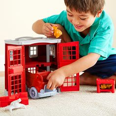 It's hard to find just the right gift for your kids! We've rounded up some favorite toys we know they will love. We love the Fire Station Playset from Green Toys is made of 100%…