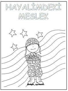 Meslekler Drawing For Kids, Mandala, Photo And Video, Children, Projects, Art, Kids Face Paints, Sports, Crafting