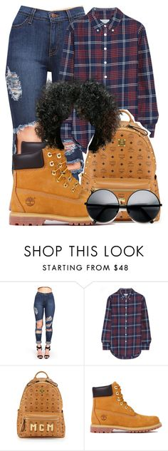 """""""014"""" by shaystaxx ❤ liked on Polyvore featuring Band of Outsiders, MCM, Timberland and ZeroUV"""