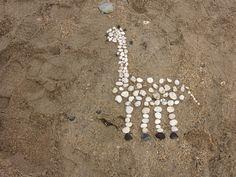 Ephemeral art on the beach, enjoy the process not the outcome