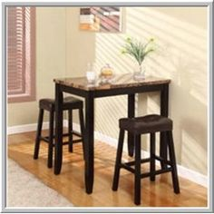 pub table set counter height storage space chairs bar stools
